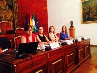De izquierda a derecha, Eva María Gil, Ana Mª Guijarro, Rosario Mérida Serrano y María Rosal Nadales
