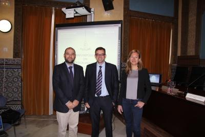 De izquierda a derecha, Enrique Quesada, Rafael Luque y Esther Van Straten