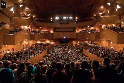 Palacio Euskalduna de Bilbao durante la celebración de Naukas