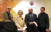 De izda. a dcha., Alfonso de la Torre, Pilar Citoler, Manuel Torres y Jorge Yeregui en la rueda de prensa previa a la presentación del libro
