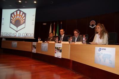 De izquierda a derecha, Alejandro Morilla, José Carlos Gómez Villamandos, Antonio Rojas y Elena Gómez en la inauguración del congreso