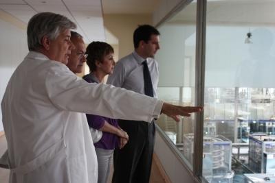 Una delegación del ceiA3 visita las instalaciones de COVAP y CICAP