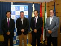 De Izq a dcha, Justo Castaño, Raúl Luque, Manuel Blázquez y Francisco Gracia