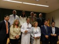 Los premiados y autoridades tras la clausura