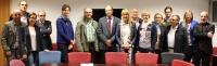 Fotografía de familia de la recepción en la Universidad de Córdoba a representantes de la Asociación Internacional de la Seguridad Social