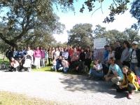 Foto de familia de los participante en la visita