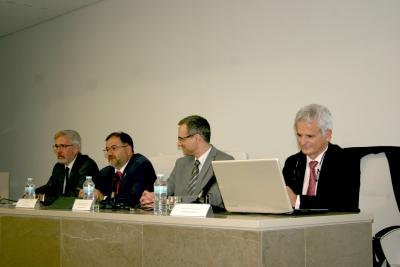 De izquierda a derecha, José María Lovera, Librado Carrasco, Manuel Izquierdo y Javier López.