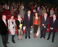 Autorides asistentes al acto de apertura de curso de la Cátedra