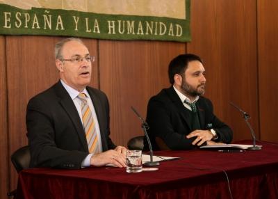 Juan Pablo Durán y Manuel Bermúdez durante la inauguración del Torneo