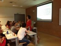 Una de las sesiones del curso sobre lactancia materna