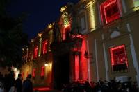 Imagen de la fachada de Filosofía en la presentación del espectáculo