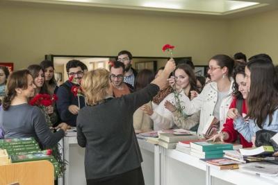 Estudiantes en la Biblioteca del campus de Rabanales