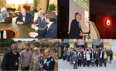 Varios momentos de la visita de Gerard't Hooft a Córdoba