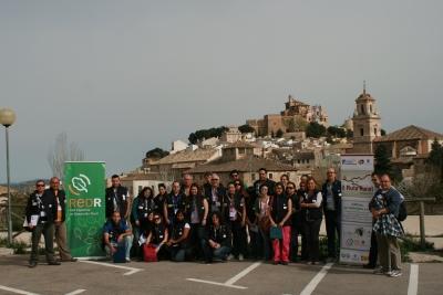 Los participantes durante la primera etapa de la ruta