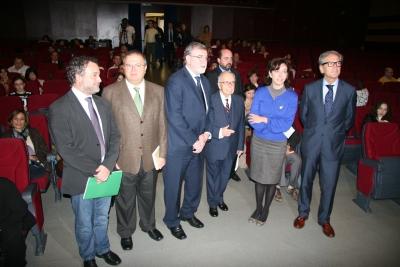 Autoridades, en la inauguración del congreso