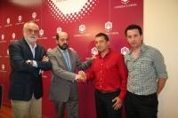 De izquierda a derecha, Antonio García del Moral, Manuel Torres, Manuel Aguilar y Alejandro Moríñigo