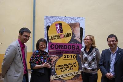 De izquierda a derecha, Pablo García, Rafaela Valenzuela, Carmen Blanco y Joaquín Dobladez
