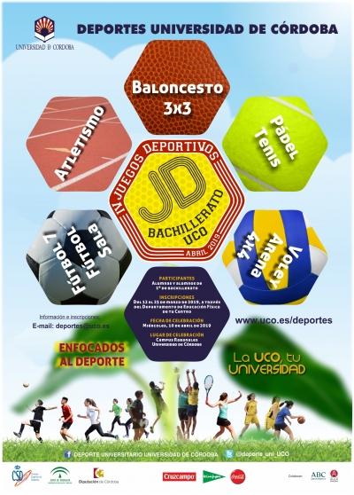 Convocados los IV Juegos Deportivos Bachillerato-UCO Conoce tu Universidad para el 10 de abril