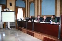 Mesa Redonda en la que ha intervenido el rector de la UCO, José Manuel Roldán