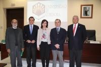 De izquierda a derecha, Bernardo Bueno, José Carlos Gómez Villamandos, María Luisa Ceballos, Luis Miranda y Miguel del Pino.