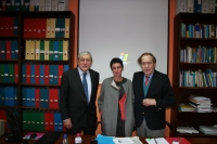 Ramón Tamames, Nuria Magaldi y José Mª Casado
