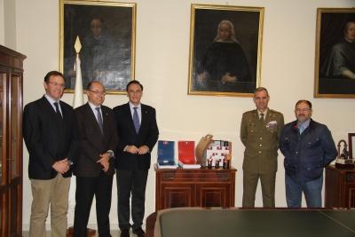 De izq. a dcha., Eulalio Fernández, Antonio Cubero, José Carlos Gómez Villamandos, Aroldo Lázaro y Librado Carrasco.