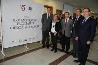 De izquierda a derecha, José Carlos Gómez Villamandos, Julia Muñoz, Federico Navarro, Pedro Gómez y Federico Durán