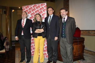 De izquierda a derecha, Francisco Luis Córdoba, Magdalena Entrenas, José Carlos Gómez Vllamandos y Juan Carandell