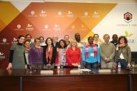 Integrantes del proyecto, en el Rectorado de la UCO