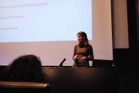 Manuela Ocón durante su intervención