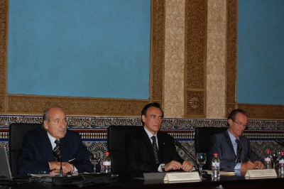De izq a dcha, Conrado Durántez, Jose Carlos Gómez y Manuel Guillén