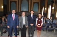 De izquierda a derecha, Manuel Torralbo, José Manuel Palazón, José Carlos Gómez Villamandos y Carmen Jiménez en la inauguración del encuentro de defensores universitarios que se celebra en Córdoba