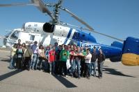 Alumnos de organización de empresas visitan la fabrica de Zumos Exprimidos del Grupo Leche Pascual y Faasa Aviación