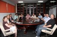 Un momento de la primera reunión entre el Comité Organizador y la Comisión de Evaluación de EUSA