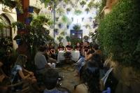 Imagen de uno de los patios del Casco Histórico durante la Noche Europea de los Investigadores