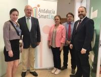 Representantes de la Unión de Informáticos de Cuba a Rabanales 21