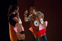 Un momento de la intervención del Grupo de Teatro UCO en el Encuentro de Aulas de Teatro Universitario