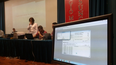 Imagen del inicio del escrutinio de los votos