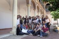 Foto de familia de los estudiantes que este año forman parte del Laboratorio Jurídico sobre Desahucios de la UCO