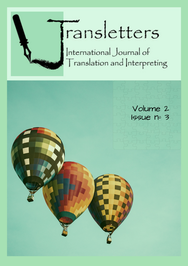Transletters  International Journal of Translation and Interpreting