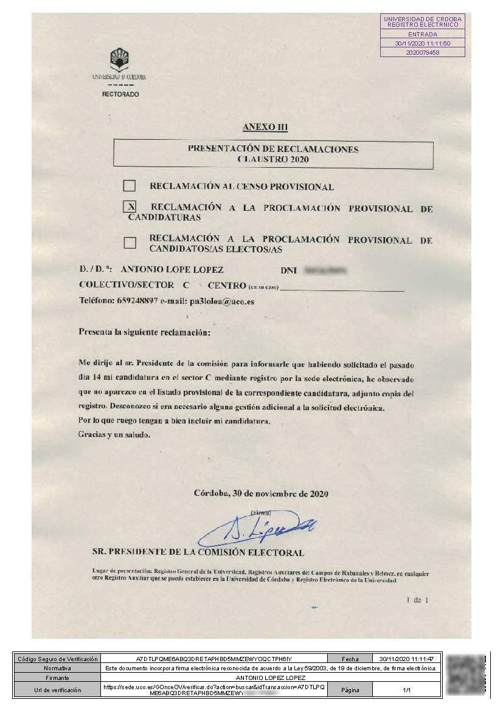 20201130 ALL Reclamacion listasprovisionalesC